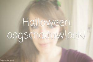 Halloween oogschaduwlook!