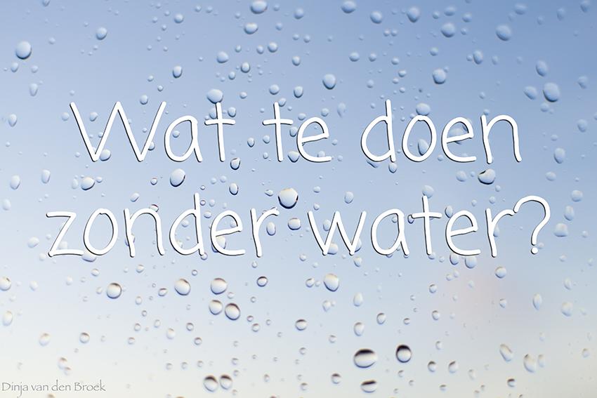 zonder water